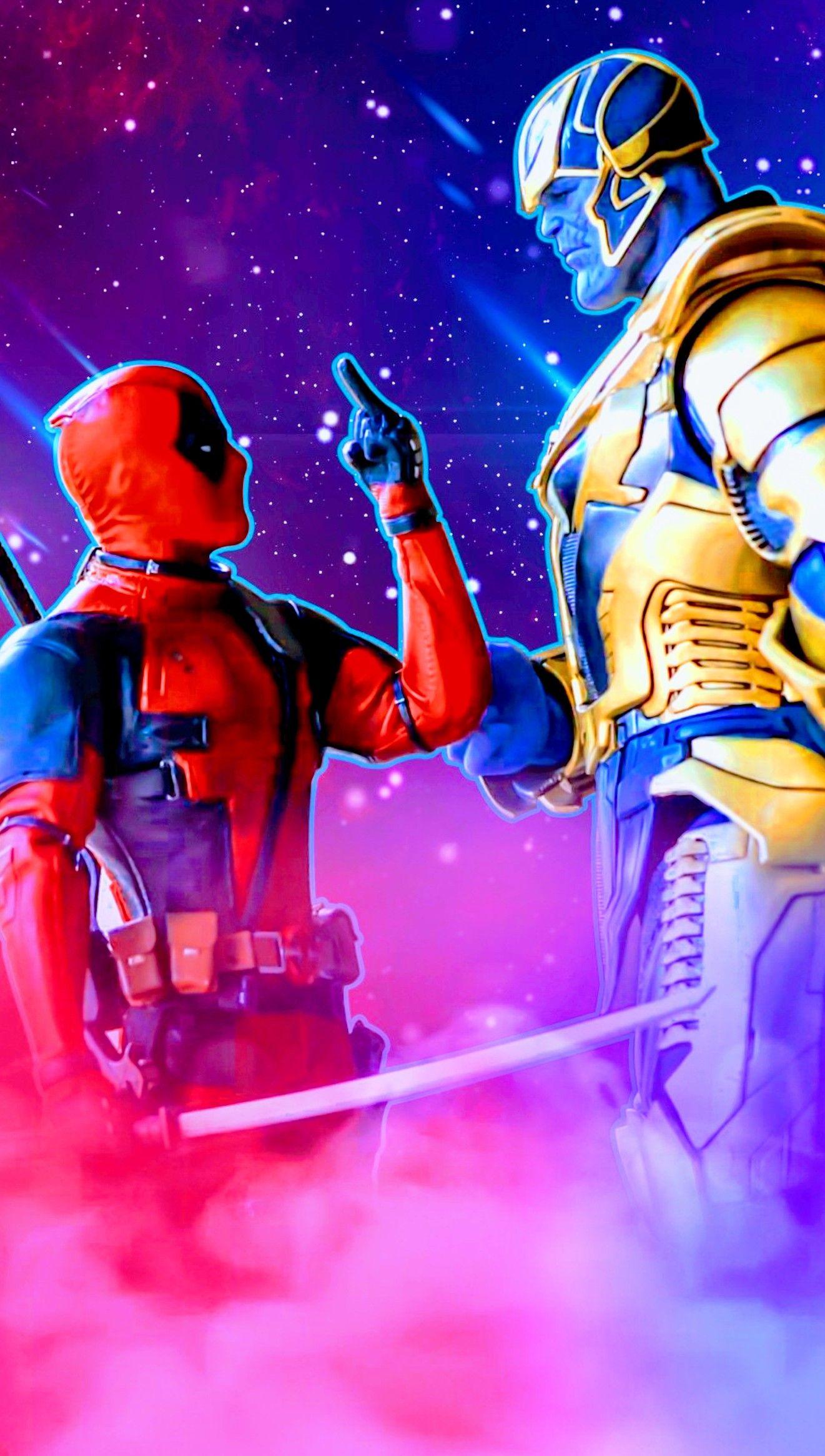Deadpool Vs Thanos Tela De Fundo Imagens Hd Fundos