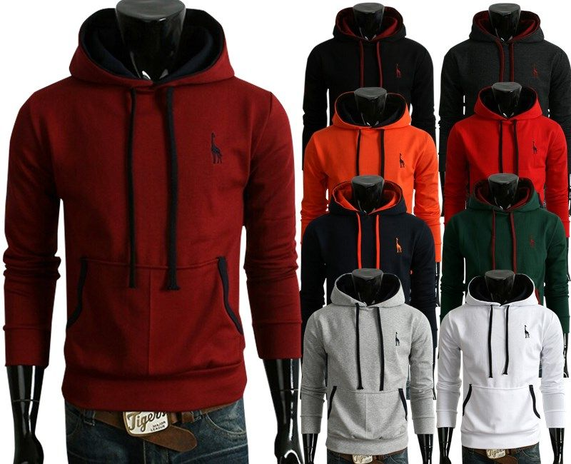 And fawn machine embroidery fashion leisure men's long sleeve head fleece men hoodies on edithtao.com