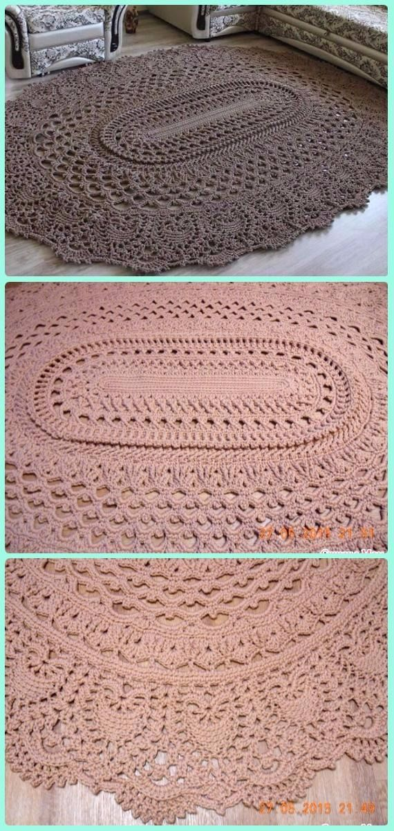 Crochet May The Miracle Oval Rug Free Pattern Area Ideas Patterns