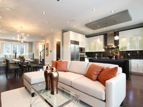 Houzz Home Design Decorating And Remodeling Ideas And Inspiration Kitchen Living Room And Kitchen Design Open Concept Living Room Rectangular Living Rooms