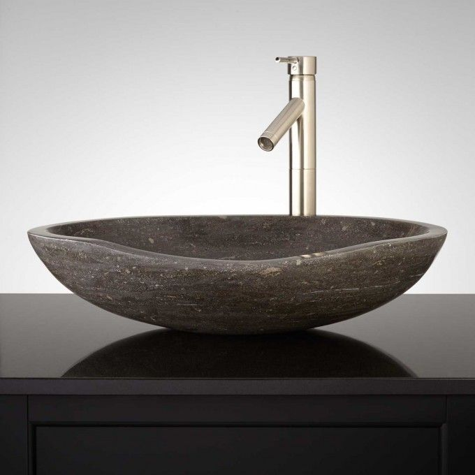 Thera Blue Limestone Vessel Sink The Whiz Palace Pinterest - Vessel Sinks Bathroom