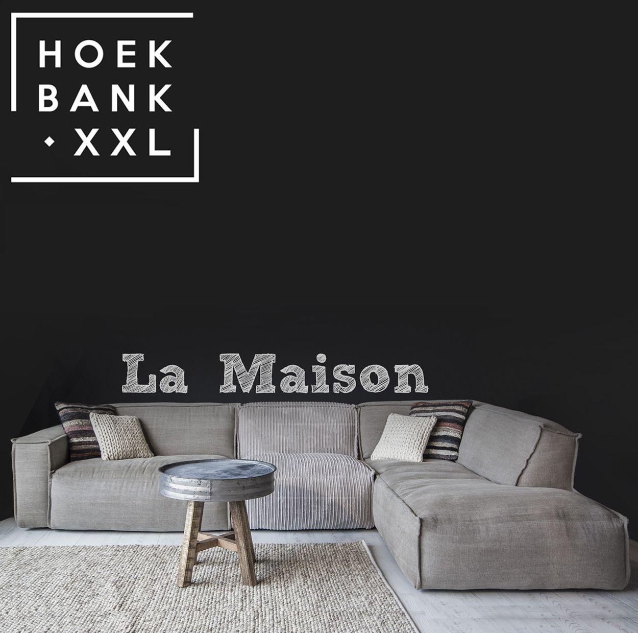 Elementenbank la maison met longchair grote lounge bank verkrijgbaar in verschillende elementen - Zwarte bank lounge ...