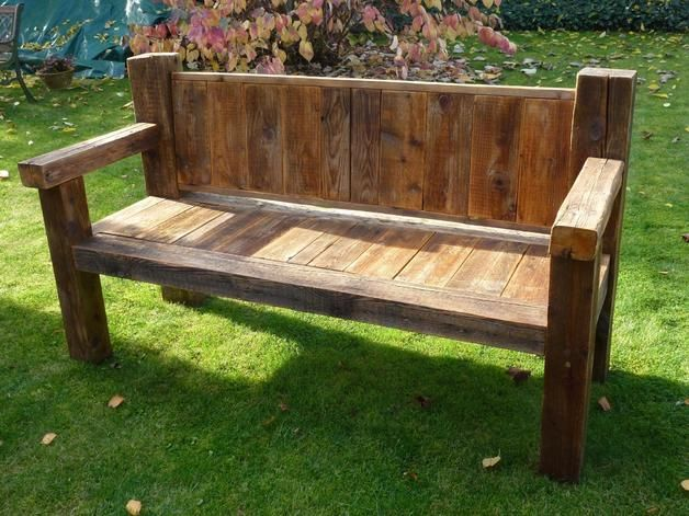 Gartenbanke Holz Rustikal Garten In 2019 Pinterest Holz