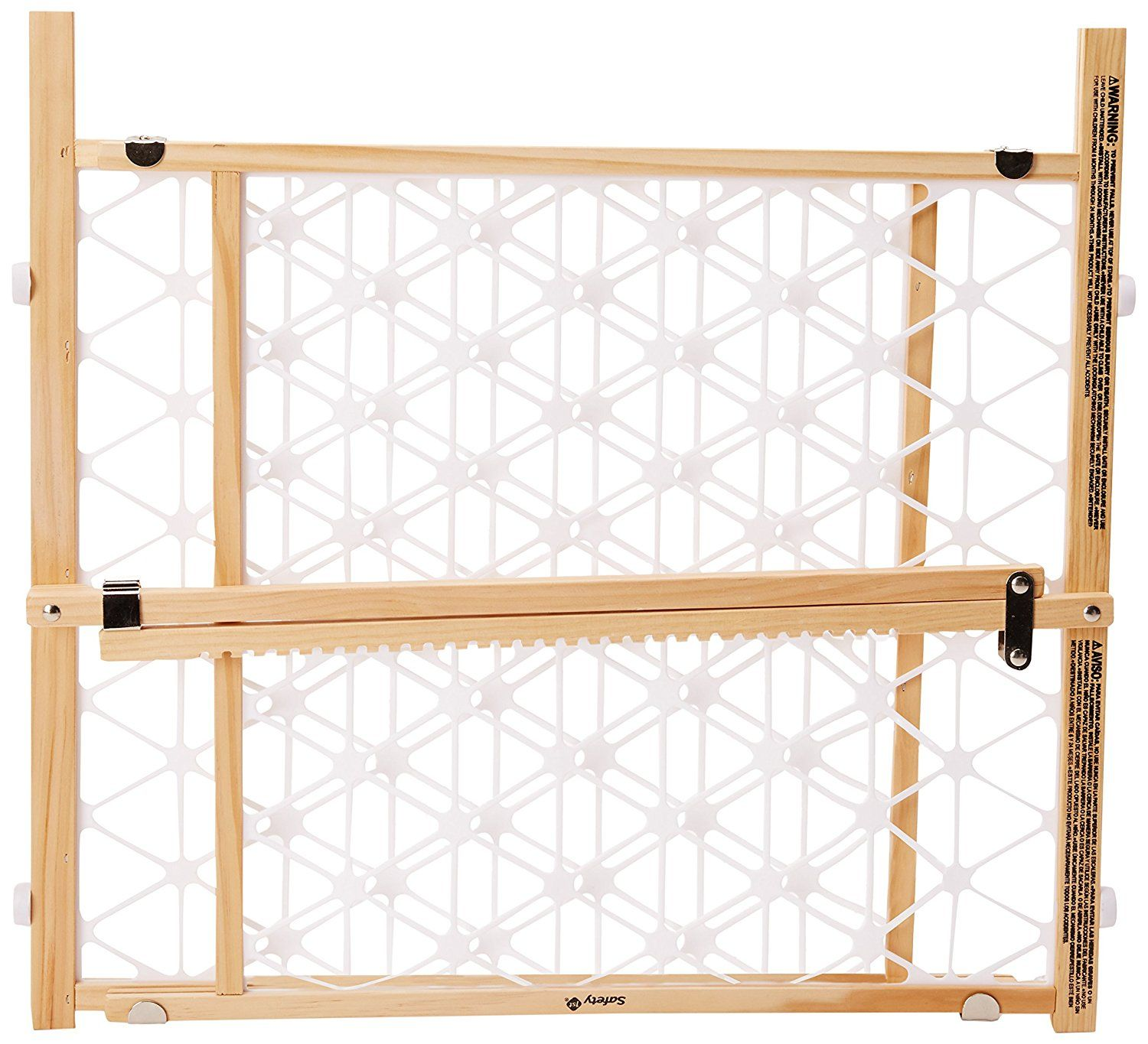 Safety 1st Presuure Mount Wood Security Gate, Maple and White, fits ...