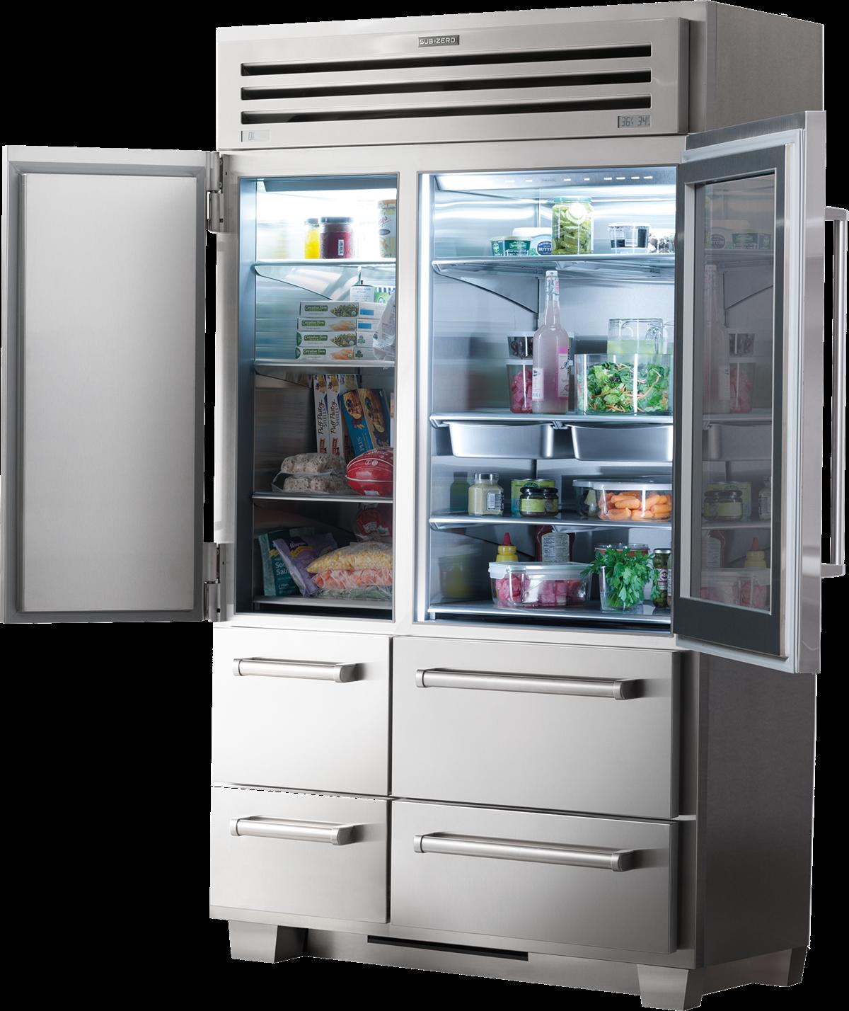 Sub Zero Pro 48 With Glass Door Legacy Model 648prog Glass Door Glass Door Refrigerator Refrigerator