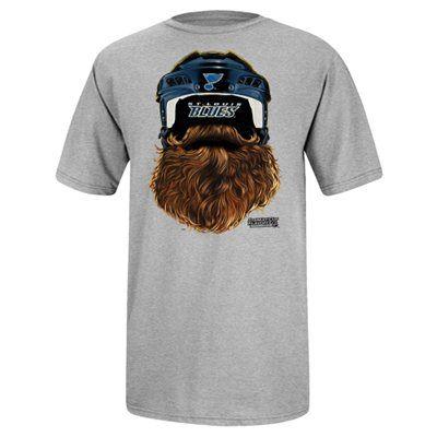 8bde8c5218e Reebok St. Louis Blues 2014 Playoff Beard T-Shirt - Gray