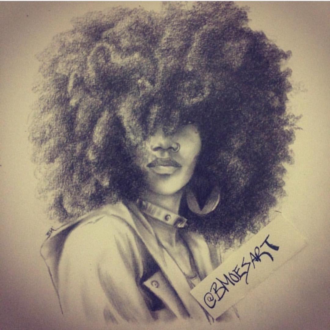 Art by bmoesart • AfroTextured Art. Pinterest Afro