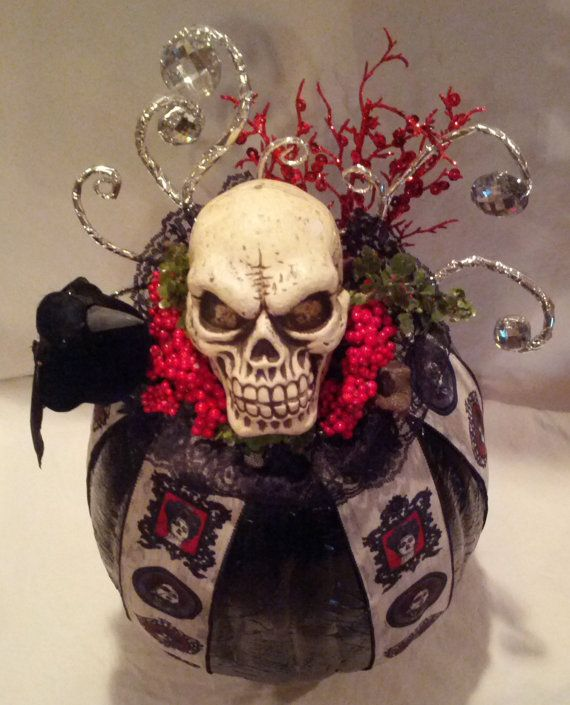 Scary Halloween Pumpkin Reaper by EnchantedPixieCottag on Etsy, $60.00