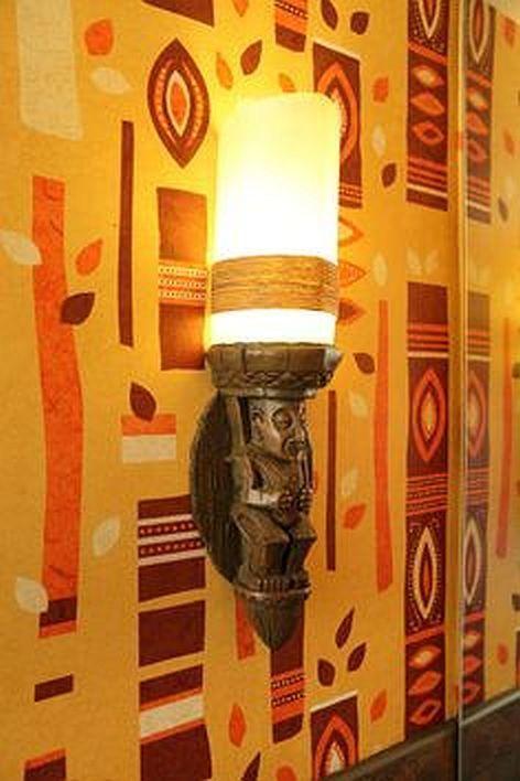 Bathroom Light Fixtures Used disney's polynesian resort tiki bathroom wall sconce | movin' on