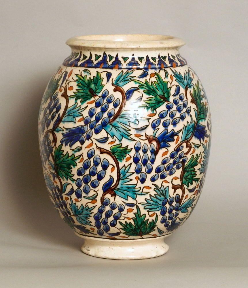 A magnificent large antique turkish kutahya iznik pottery vase a magnificent large antique turkish kutahya iznik pottery vase reviewsmspy