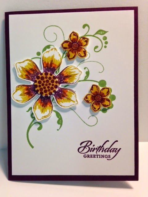 Beautiful Bunch, Fabulous Flourishes, Birthday Card, Stampin' Up!, Rubber Stamping,  Handmade Cards