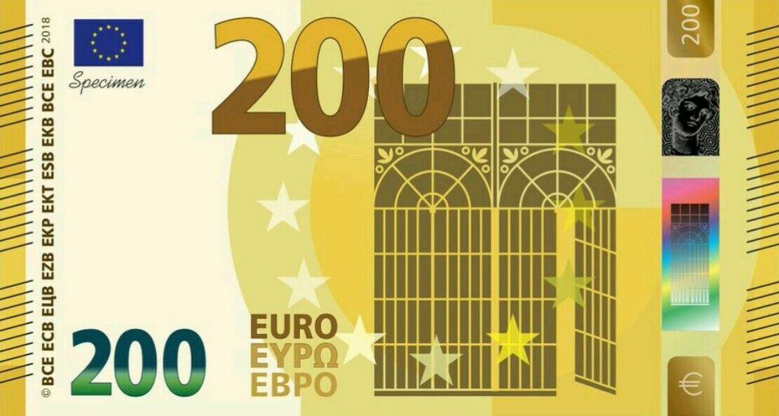 200 Euro Banknote Serie 2 Konzept Banknote Design