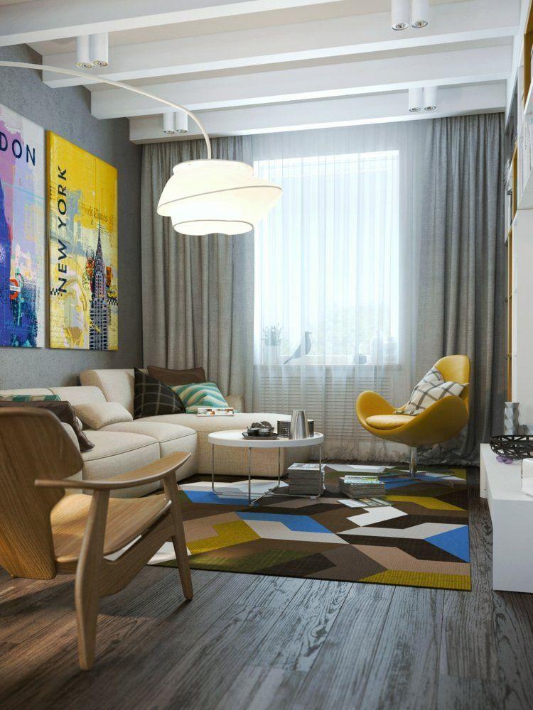 Beton Farbe Für Moderne Wandgestaltung U2013 5 Designer Wohnungen #beton  #designer #farbe #