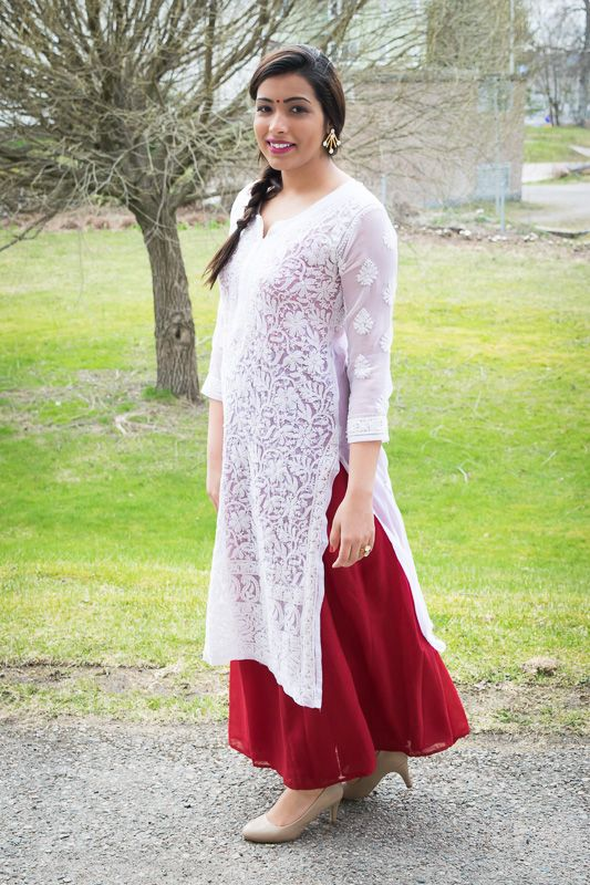 what to wear with white kurti