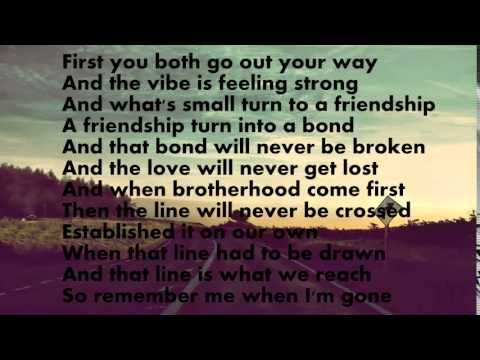 See You Again Wiz Khalifa Lyrics With Images See You Again