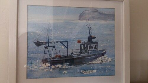 Fishing boat by my granny