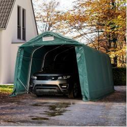 Photo of Tent garage 3.3×4.8 m – incl. Statics, Pvc 550 g / m², dark green garage tent Toolport