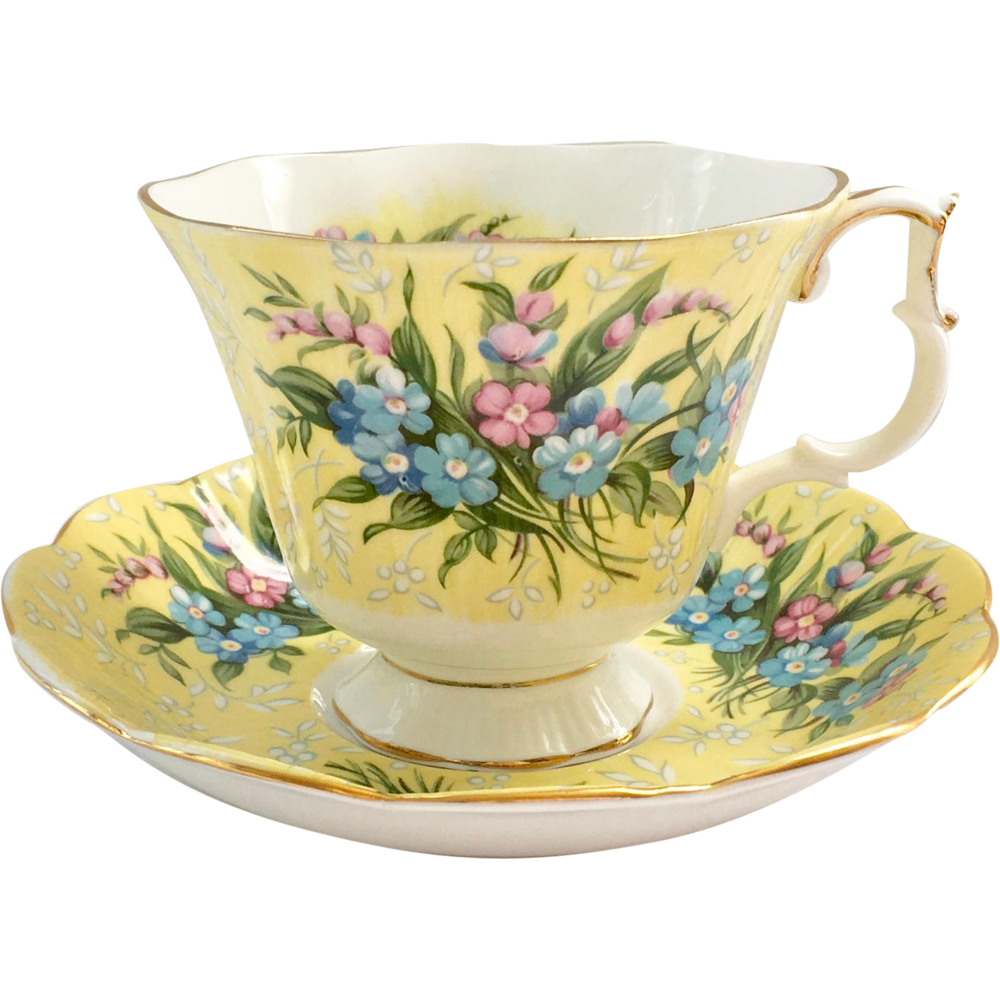 another wonderful example of the fine quality of royal albert bone china is offered here in
