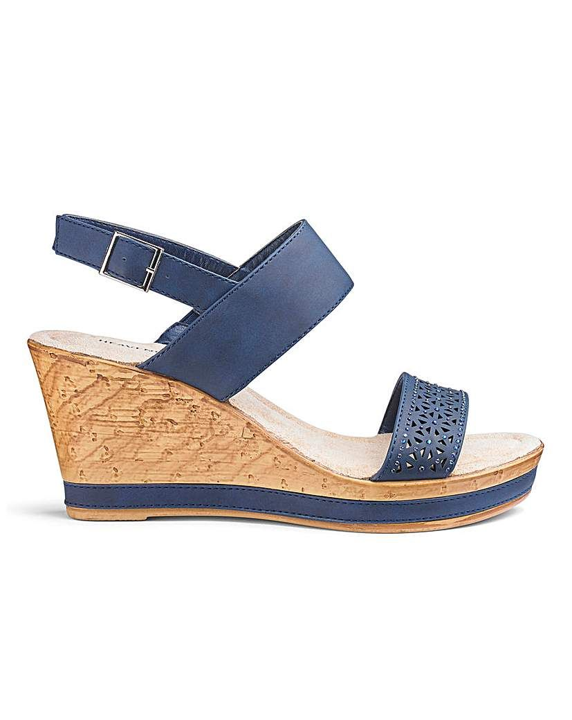7e100c8e2f1 Heavenly Soles Wedge Sandals E Fit | Products | Wedge sandals ...