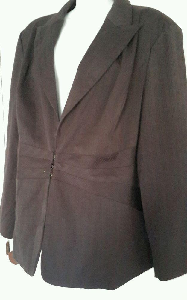 bc2db050c23 Lane Bryant Women s Pants Suit sz 22 Black Pinstripe Poly Blend  LaneBryant   PantSuit