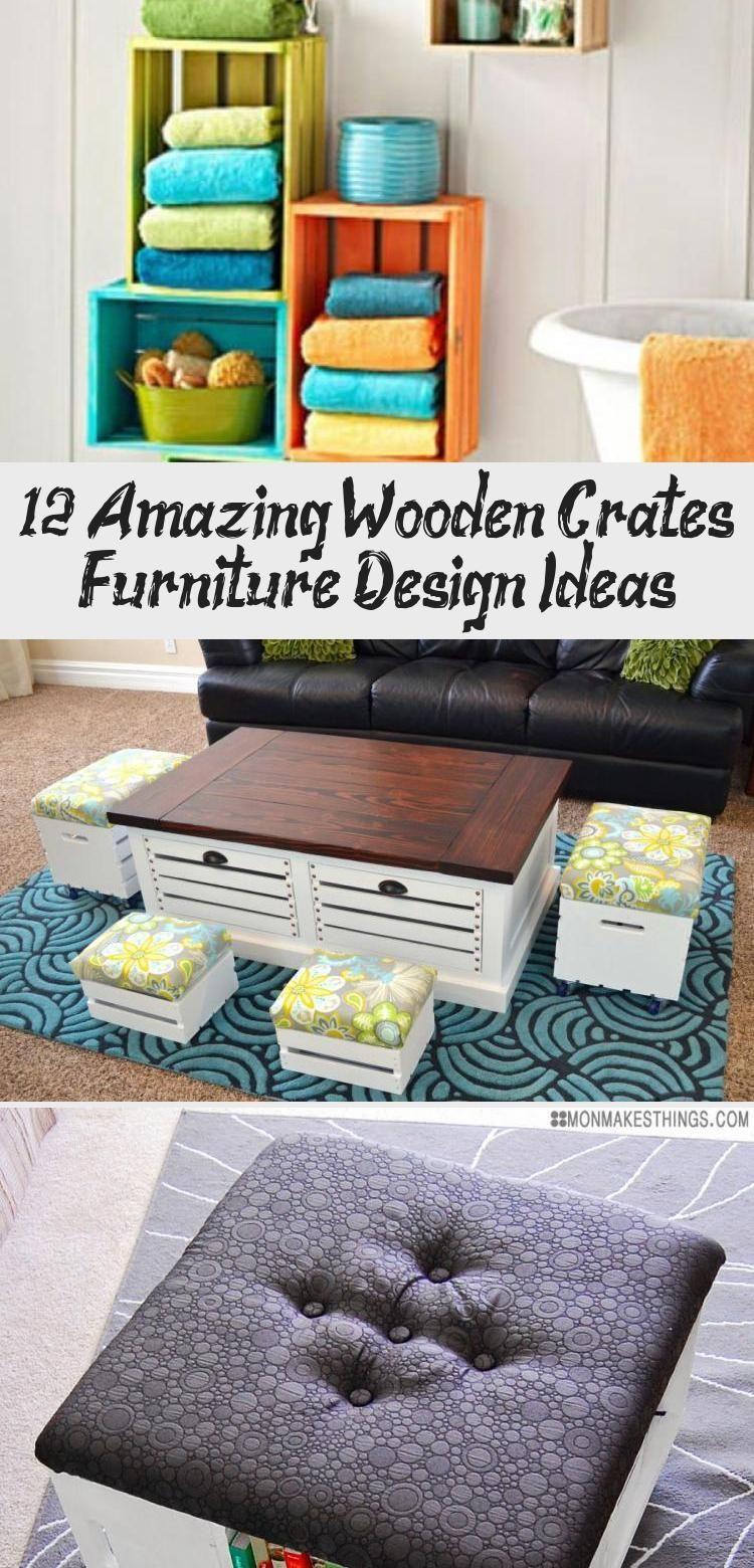 12 erstaunliche holzkisten möbel design-ideen - holzkisten