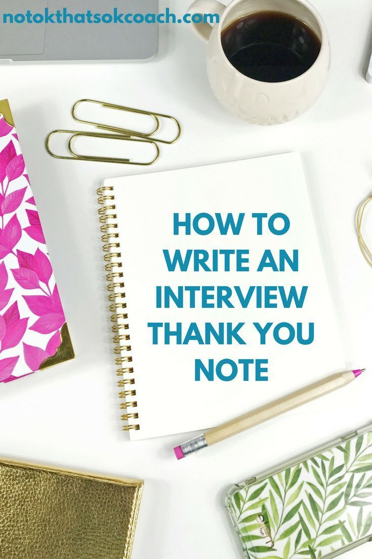 How To Write An Interview Thank You Note  Free Template  Note