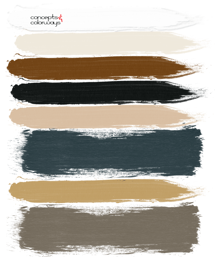 MODERN RANCH (AN OCHRE AND DARK TEAL COLOR PALETTE