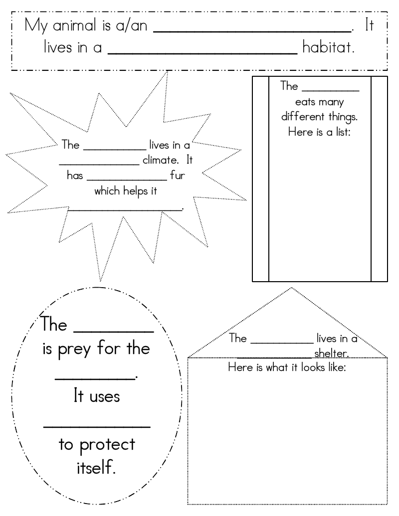Worksheets Animal Habitats Worksheets this worksheet on animal habitats might have to be adjusted slightly for 1st grade but i love the concept of focusing one