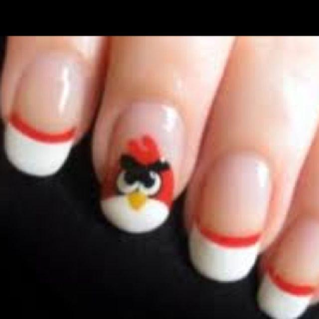 Angry bird nails! | Cute Nail ideas :D | Pinterest | Angry birds