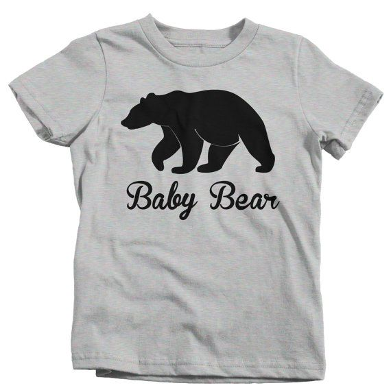 Sizes NB-18M are in bodysuits. We carry the set here: https://www.etsy.com/listing/224364054/mama-bear-papa-bear-t-shirt-t-shirt-tee?ref=listings_manager_grid >> SALE! Buy 3, 4th is FREE! << Use COUPON CODE: BOOOTEE when you buy 3 shirts to get the 4th FREE! (Add 4 shirts to your cart and apply code!) Check our shop announcement for more codes :) ABOUT OUR TEES AND INK: We strive to print on some of the softest shirts around, while keeping our price...