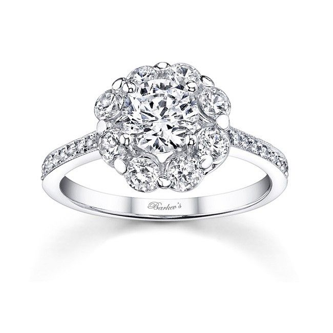 flower engagement ring 7661lw stunning in vogue this white gold diamond halo - Flower Wedding Rings