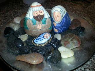 Painting Rock & Stone Animals, Nativity Sets & More: nativity sets