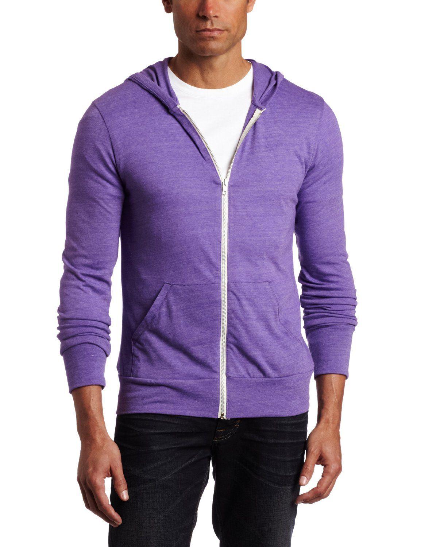 Amazon Com Alternative Men S Zip Hoodie Purple Mens Zip Up Jackets Alternative Men Mens Zip Hoodie [ 1500 x 1154 Pixel ]