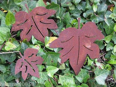 rost bläatter | Edelrost Blätter Herbstblätter Ahornblätter Girlande ...