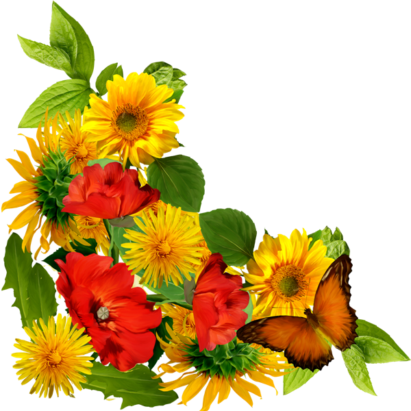 Pin by VERO on CLIPART (VARIETY) | Flowers, Yellow flowers ...