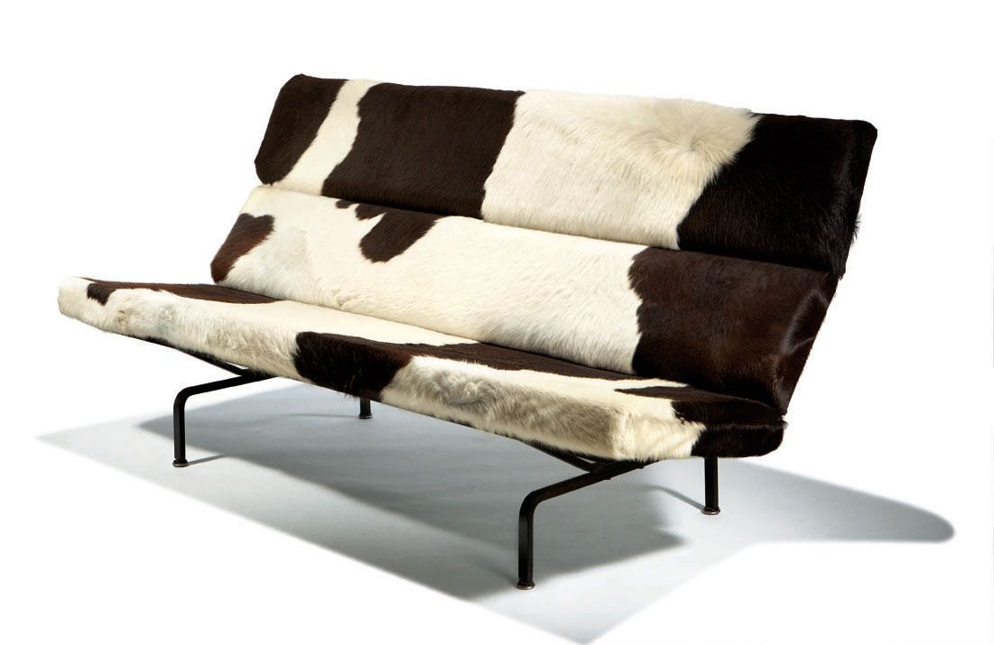 Amazing Charles U0026 Ray Eames Sofa Compact Designed 1954 Cowhide And Vinyl  Upholstery, Enameled Steel Model