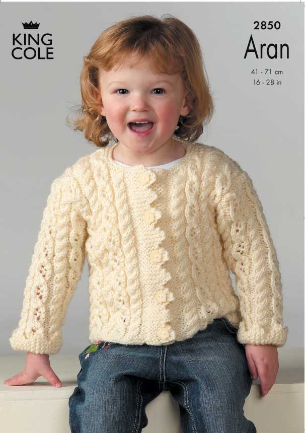 Long Sleeved childrens knitted jacket in a warm beige - King Cole ...
