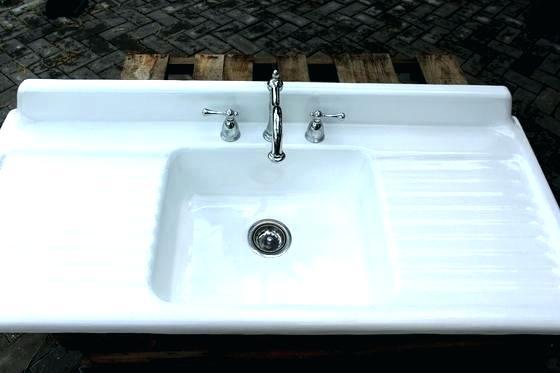 Farm Sink With Drainboard Cast Iron Double Drain Board