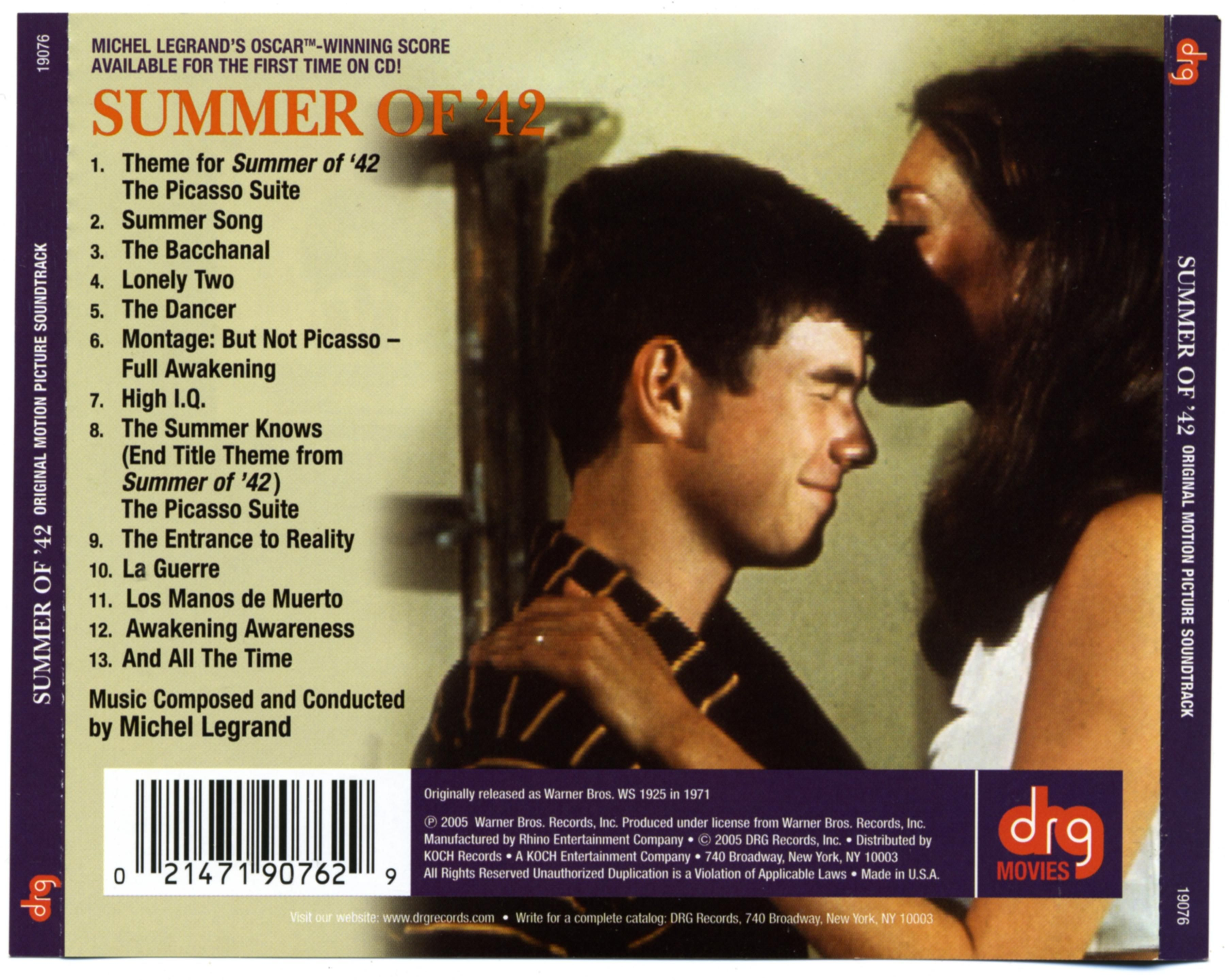 Summer Of 42 Soundtrack 42 Movie Summer Songs Movies