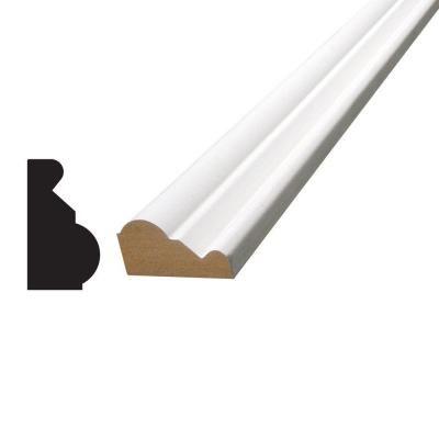 Alexandria Moulding 3 4 In X 1 3 8 In X 96 In Primed Mdf Base Cap Moulding Primed White Base Moulding Moldings Trim Home Depot