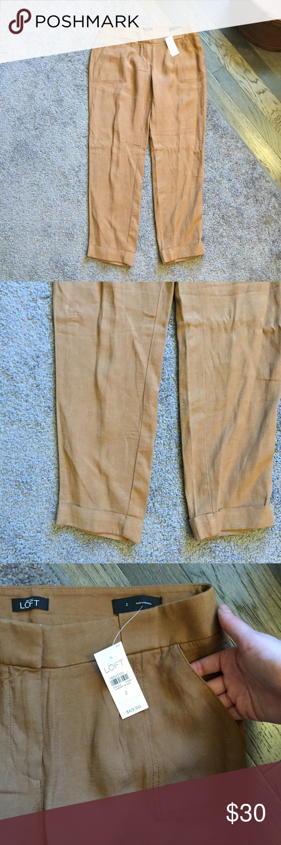 🆕 Loft Brown Cuffed Straight Pants NWT Sz 2 ☀️ Brand new with tags! Thank you for looking! LOFT Pants Straight Leg