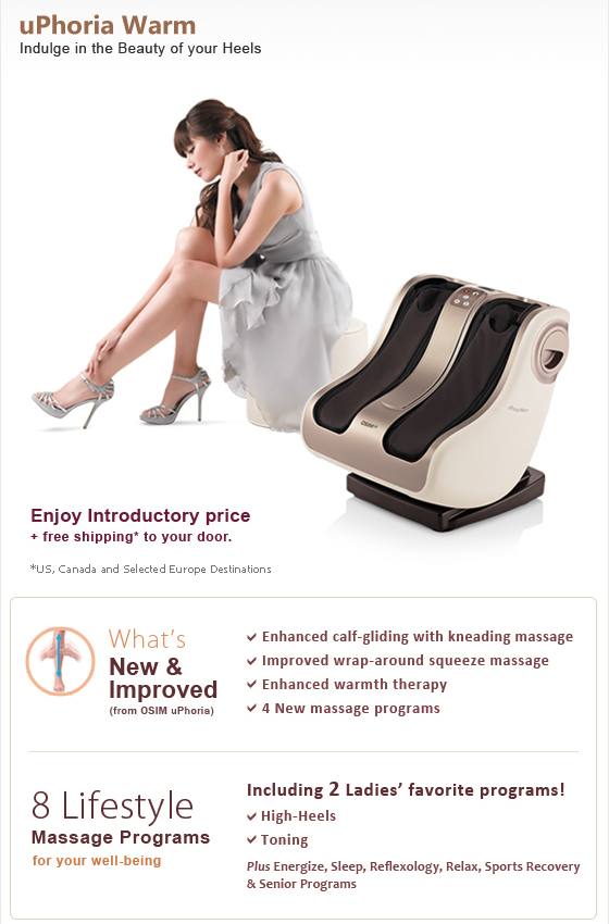 NEW Product is IN! OSIM uPhoria Warm leg and foot massager