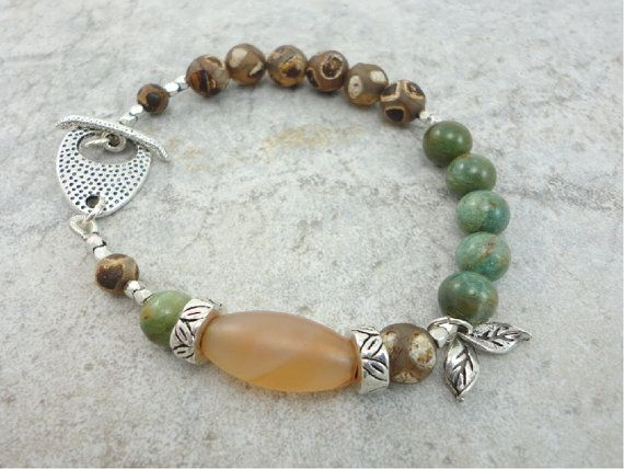 97e018fca25e Multi gemstone bracelet with carnelian jade by fieldstoneterrace ...
