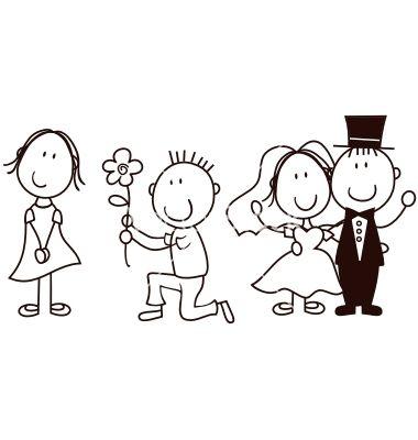 Wedding cartoon vector art - Download Bride vectors - 577164 Tea - best of invitation card vector art