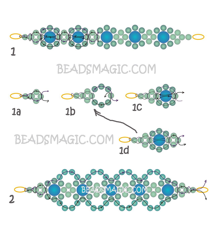 Free pattern for bracelet Lime   Beads Magic   jewellery ideas ...