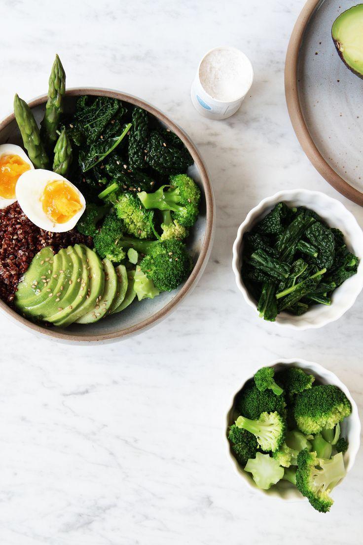 Green Goddess Bowl With Quinoa Broccoli Asparagus Kale And Avocado Vegetarian Recipes Easy Vegetarian Recipes Healthy Cooking