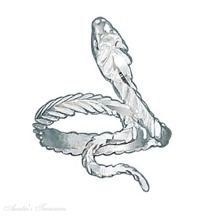 Sterling Silver Diamond Cut Polished Snake Ring Auntie's Treasures. $64.46