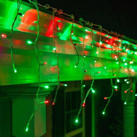 Icicle Lights Etc, Green Outdoor Led String Lights