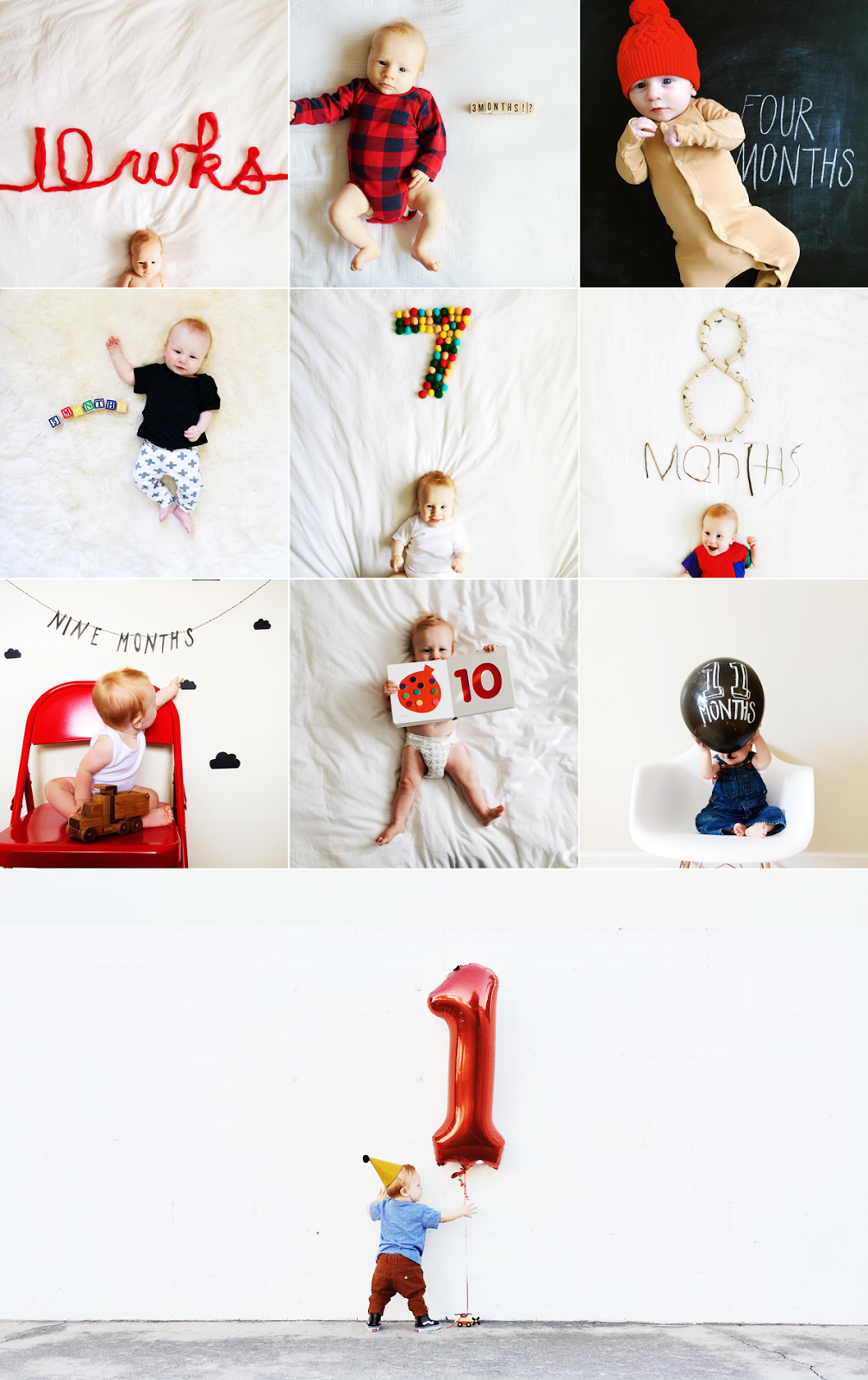 Every 1 Year Old Deserves A Good Montage Eat Sleep Cuddle Baby Month By Month Baby Milestone Photos Milestone Pictures