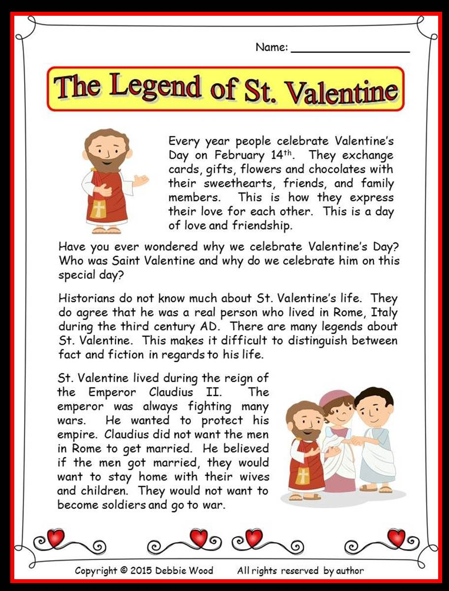 ... What Did He Do. The Legend Of St Valentine Reading Vocabulary And Much  More   Who Was St Valentine And